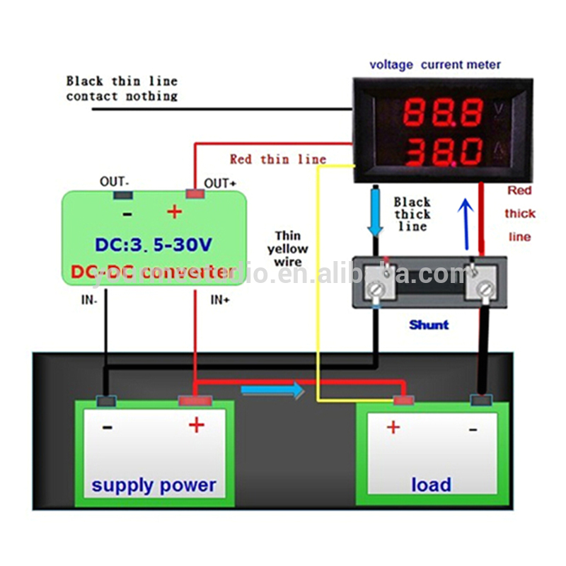 voltmeter and ammeter 5 wires using shunt wiring diagram by drjohnbullas