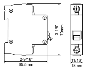 20a 12 100 volt dc toggle switch circuit breaker commonly used on larger street legal electric scooters bikes and mopeds cable clamp terminals on top
