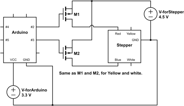 how to connect a stepper motor with exactly 4 wires to arduino 4 wire motor wiring diagram 4 wire motor diagram