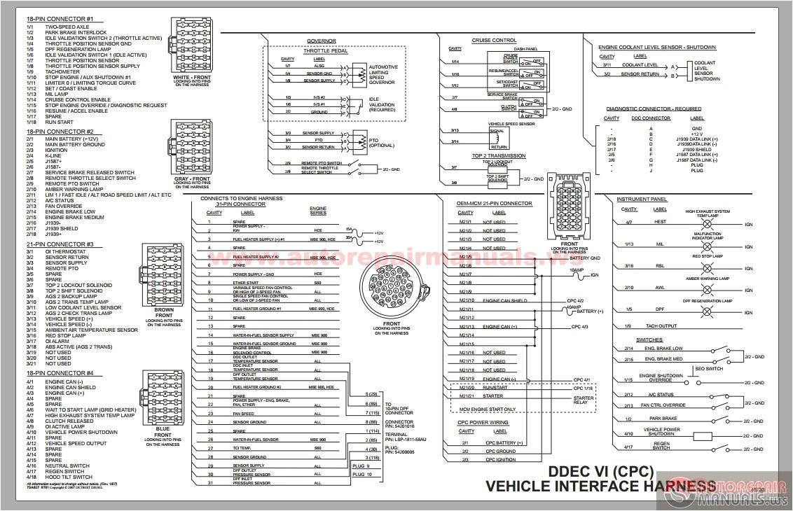 detroit diesel ddec vi cpc vehicle interface harness schematic to series 60 ecm wiring diagram with ddec vi wiring diagram jpg