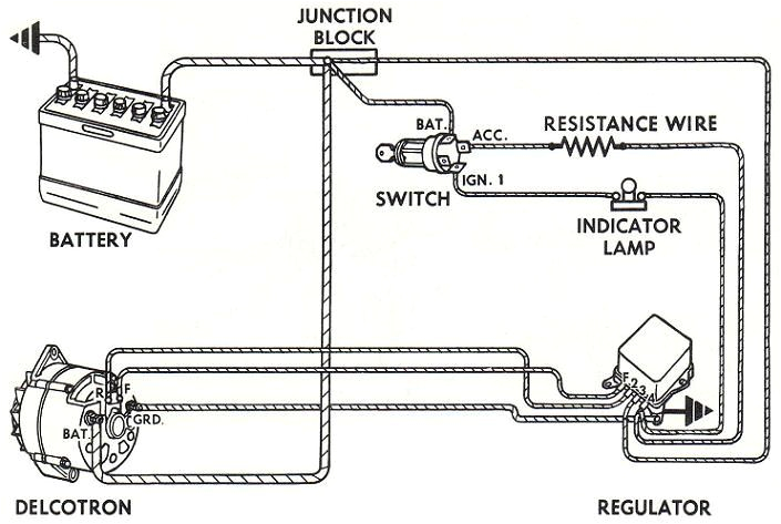 4 wire delco remy alternator wiring diagram