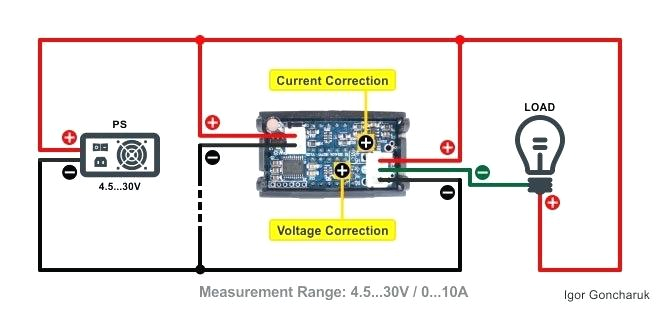 a dual display digital dc voltmeter ammeter wiring diagram 2 please note that current measurement in