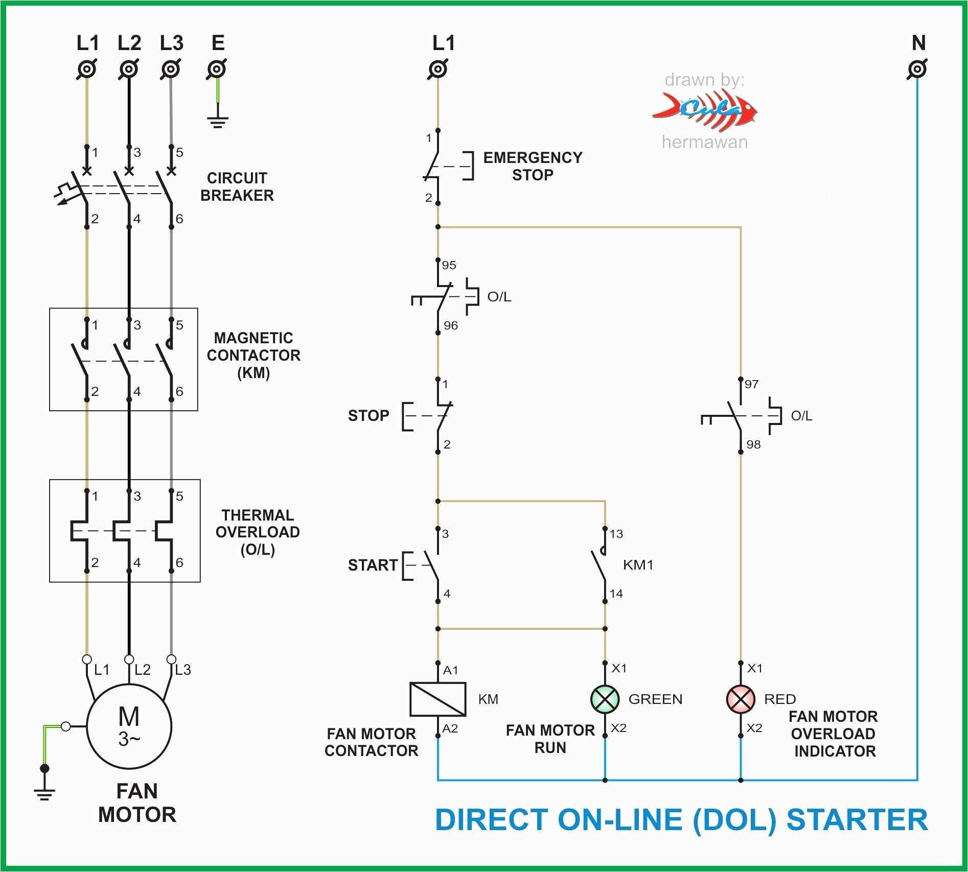 Dol Motor Starter Wiring Diagram Motor Starter Wiring Diagram Start Stop Elegant Imo Dol Starter