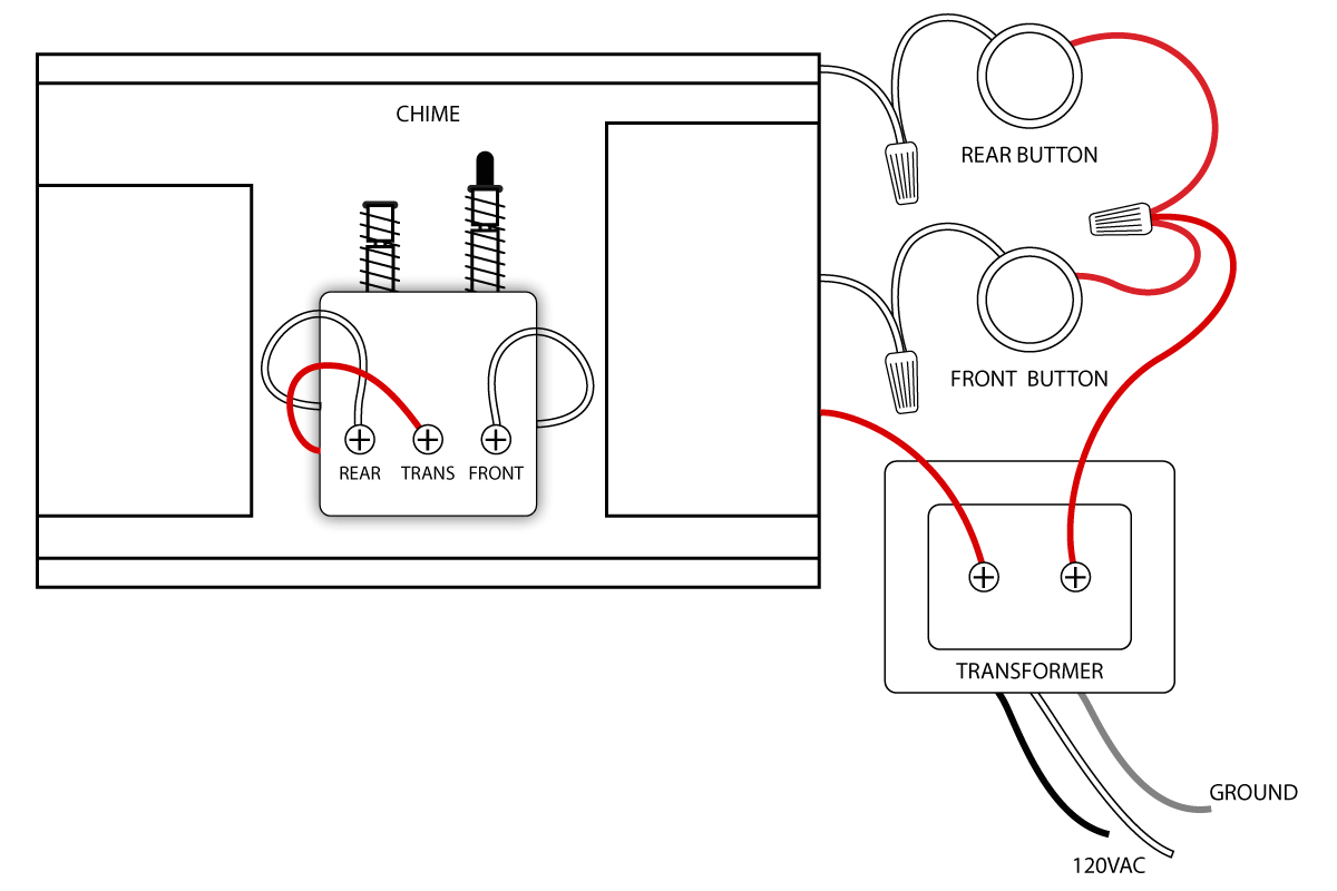 front and rear doorbell wiring diagrams sc 1 st pinterest