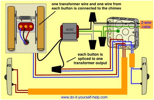 doorbell wiring 2 doors gif
