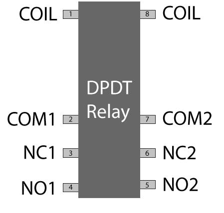 relay switch pin diagram dpdt relay switch