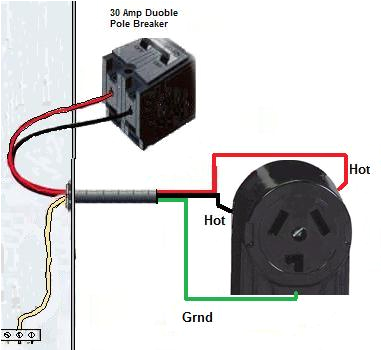 wire a dryer outlet3 wire 220 breaker diagram 2