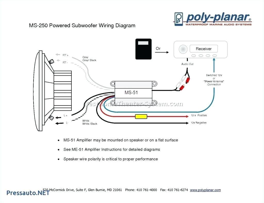 Dual Subwoofer Wiring Diagram Marine Subwoofer Wiring Diagram Data Diagram Schematic