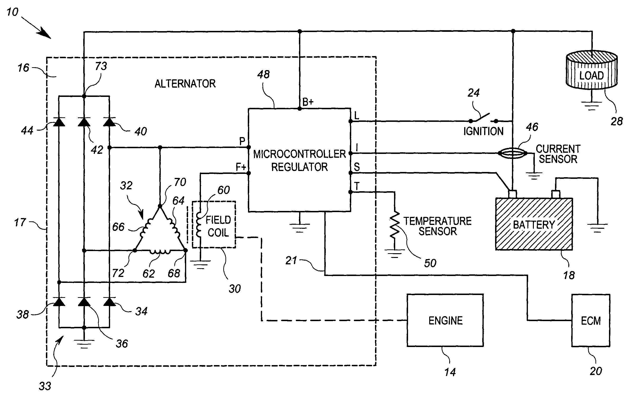 component alternator voltage regulator circuit ducati roundcase patent us8330430 with variable rotor field electronic us08330430 d diagram