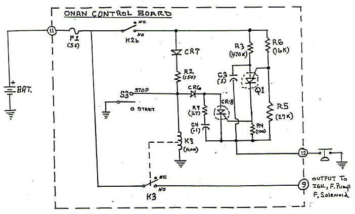 onan control board operation onan rv generator wiring diagram large view