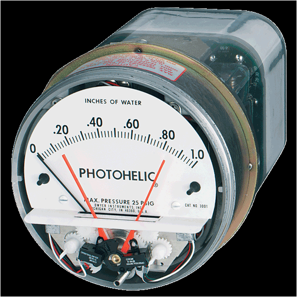 series a3000 photohelica pressure switch gage