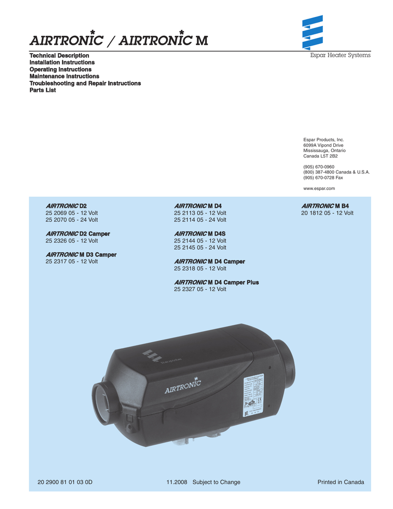 airtronic d2 d4 air heater