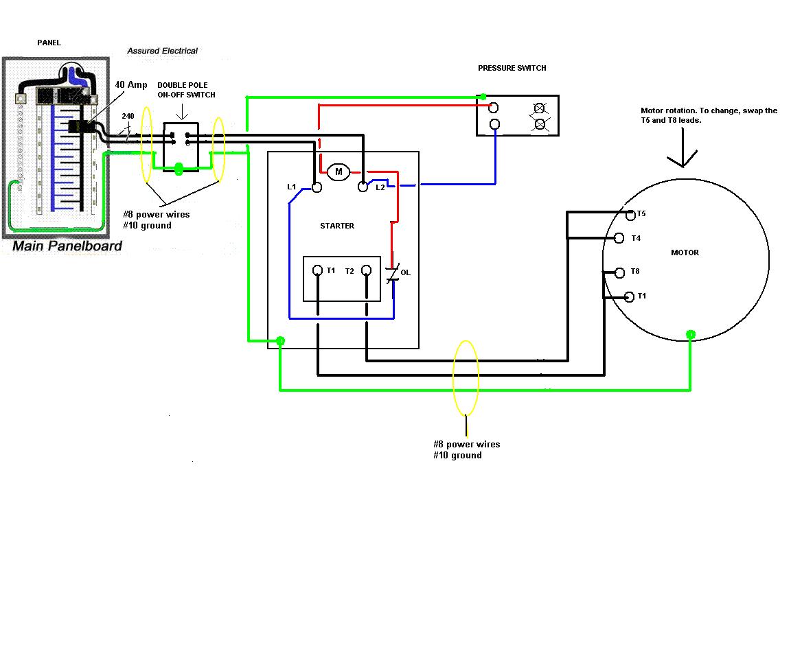 how to wire a 240v air compressor diagram beautiful air pressor wiring diagram 240v gallery