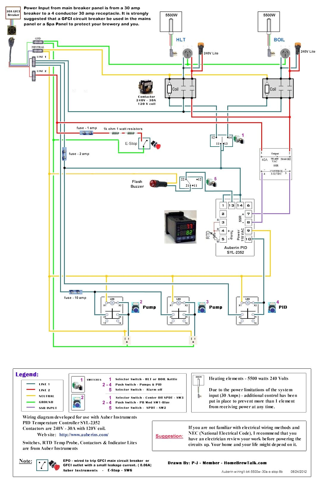 Electric Brewery Wiring Diagram 220v 30a Wiring Diagram Help Page 2 Home Brew forums Brewery