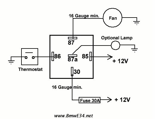 Electric Fan Relay Wiring Diagram Relay Wiring Diagram My Wiring Diagram