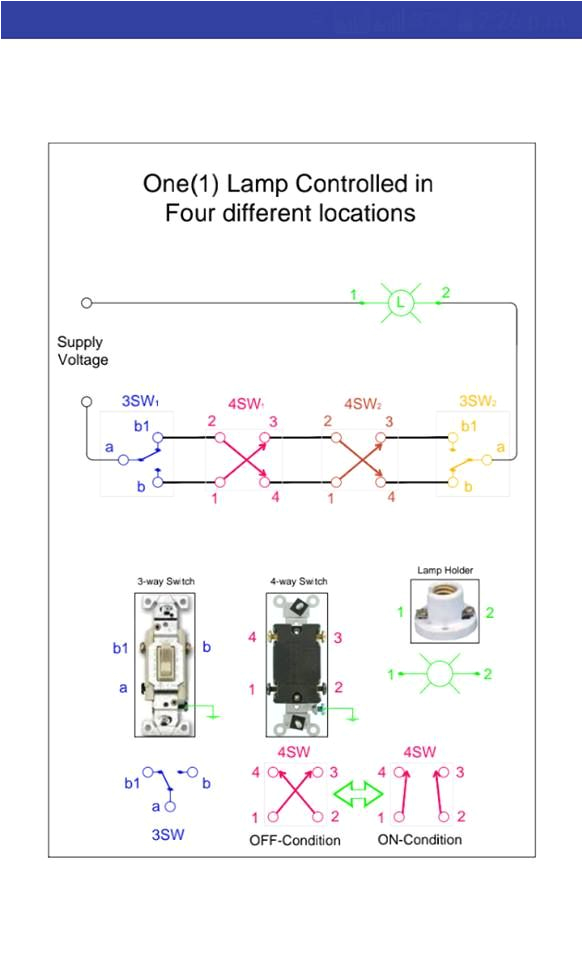 Electrical Three Way Switch Wiring Diagram 3 Way Switch Connection Diagram Electrical Technology In 2019