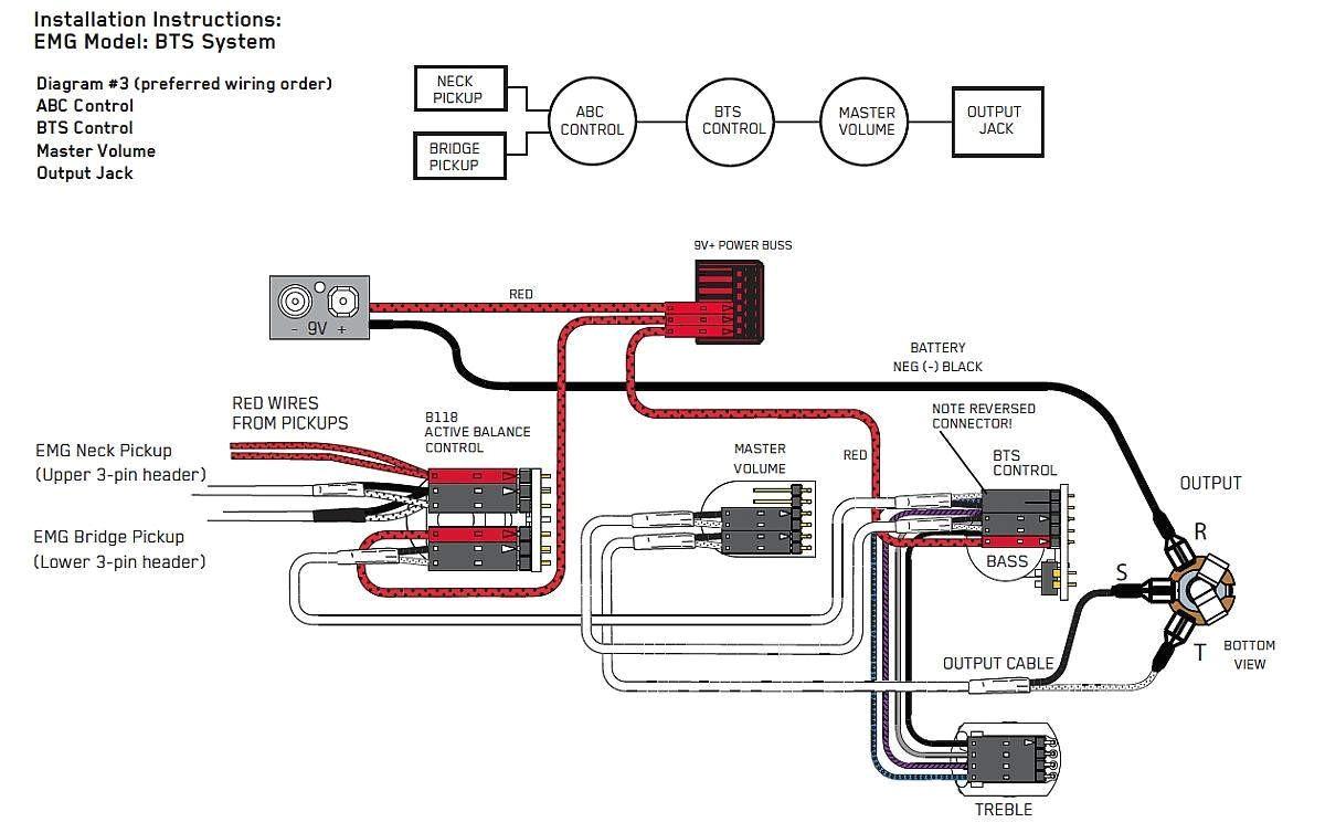 Emg 89 Wiring Diagram Emg B Pickups Wiring Diagram Wiring Diagram