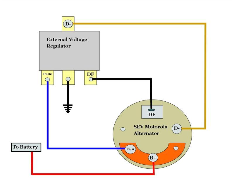 motorola alternator regulator wiring diagram wiring diagram option