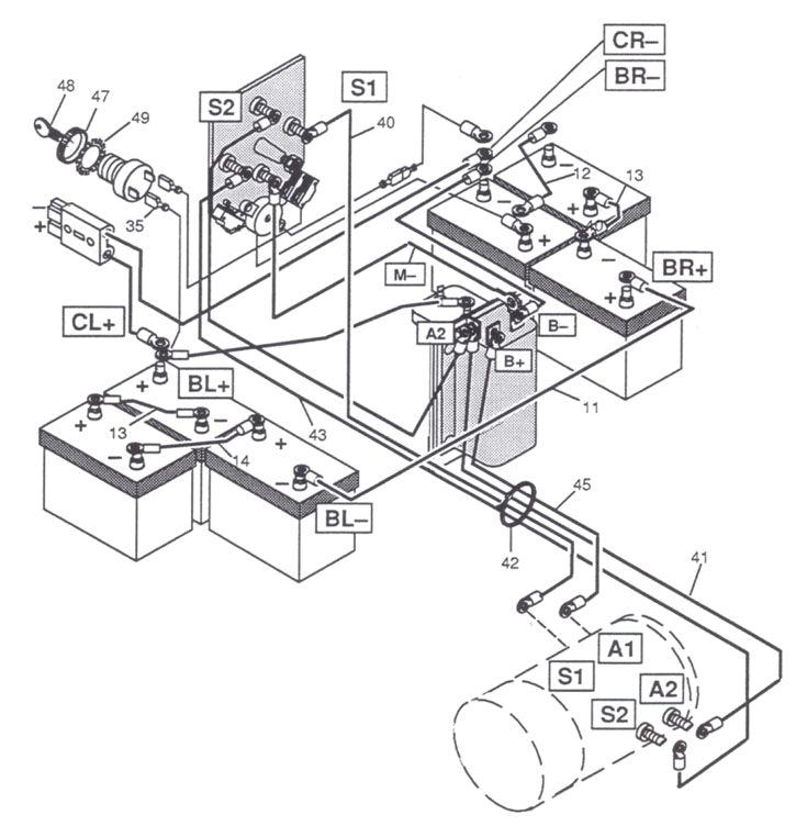 cartaholics golf cart forum u003e e z go wiring diagram controller ez go medalist wiring diagram ez go electrical diagram