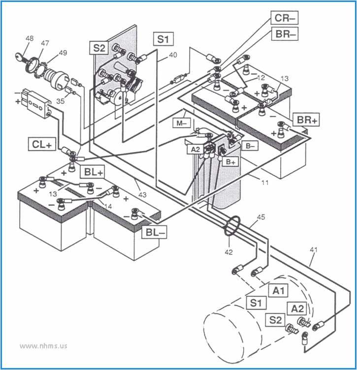 Ez Go Wiring Diagram 36 Volt 36 Volt Ezgo Txt Battery Wiring Diagram Wiring Diagram Blog