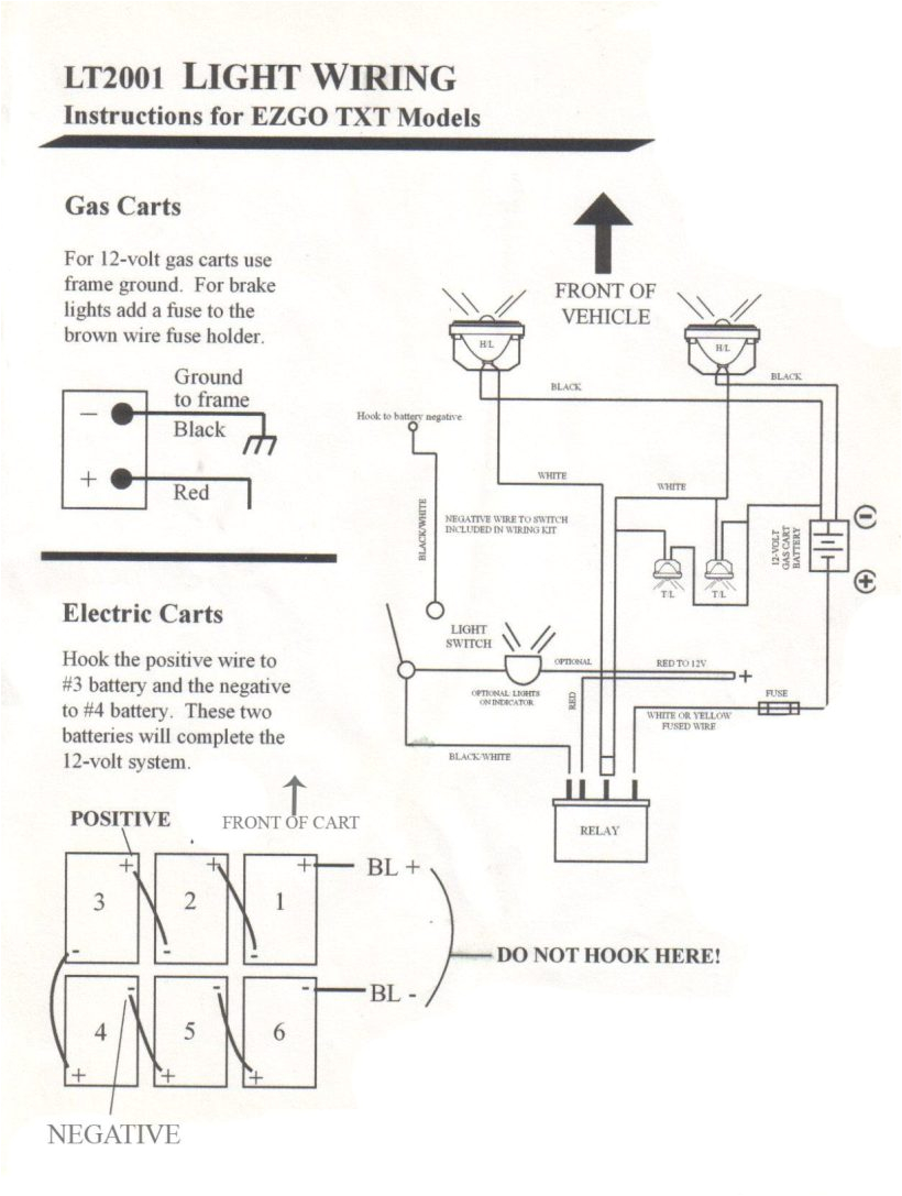 ezgo light diagram wiring diagram world ezgo txt headlight wiring diagram ezgo headlight wiring diagram