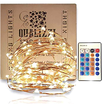 fairy lights with remote control dimmer warm white leds on copper wire indoor outdoor string lights 33 feet amazon ca patio lawn garden