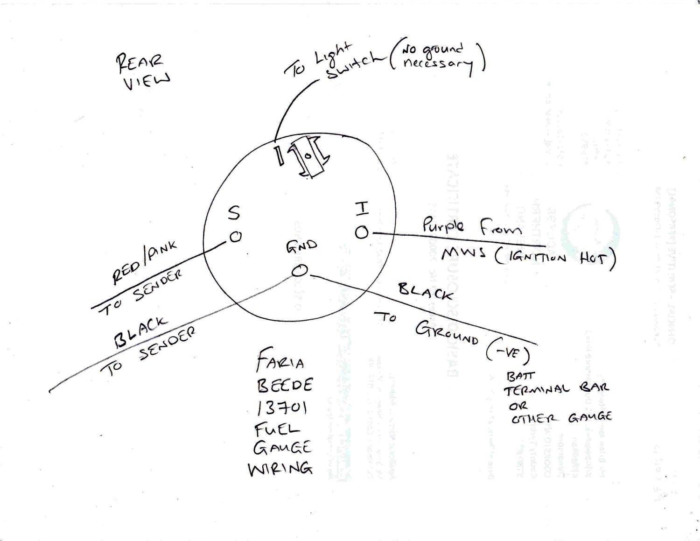 Faria Fuel Gauge Wiring Diagram Faria Tachometer Wiring Diagram Wiring Diagram Name
