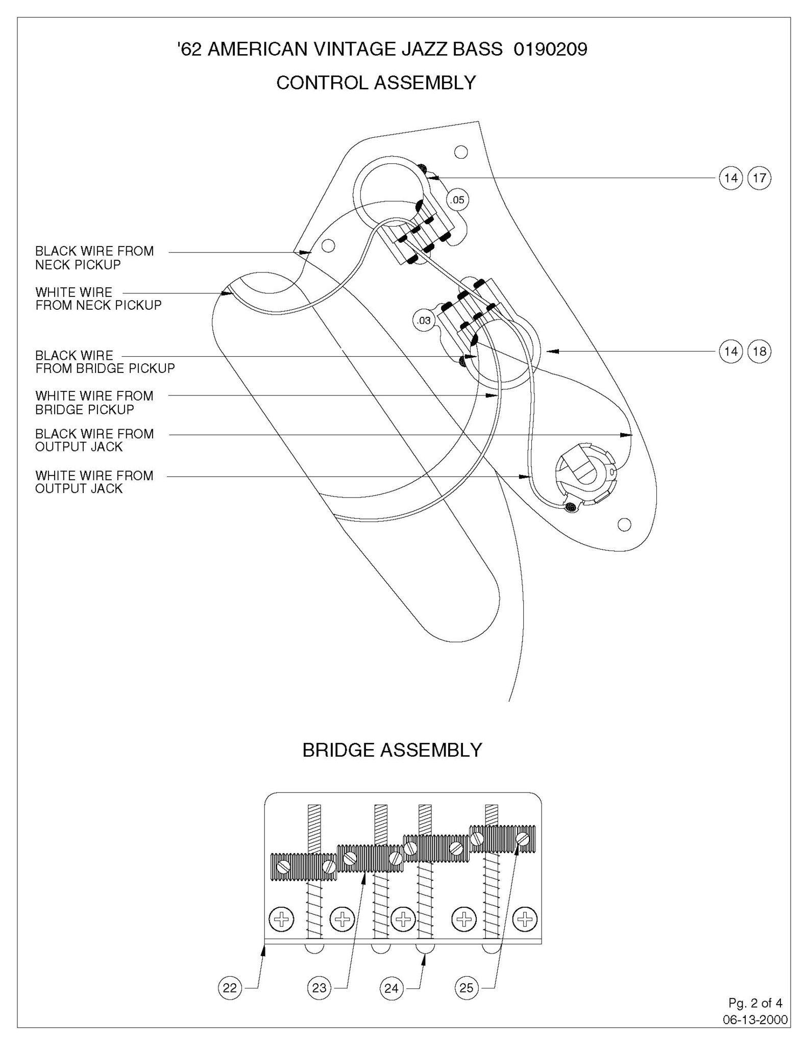 diagrams jazz bass concentric