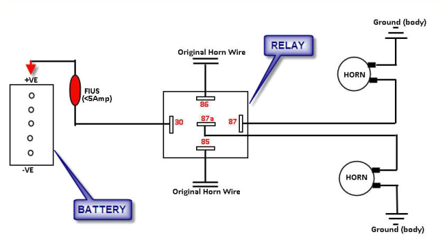 5 wire relay horn diagram wiring diagram g8electric horn relay wiring schema wiring diagram online light