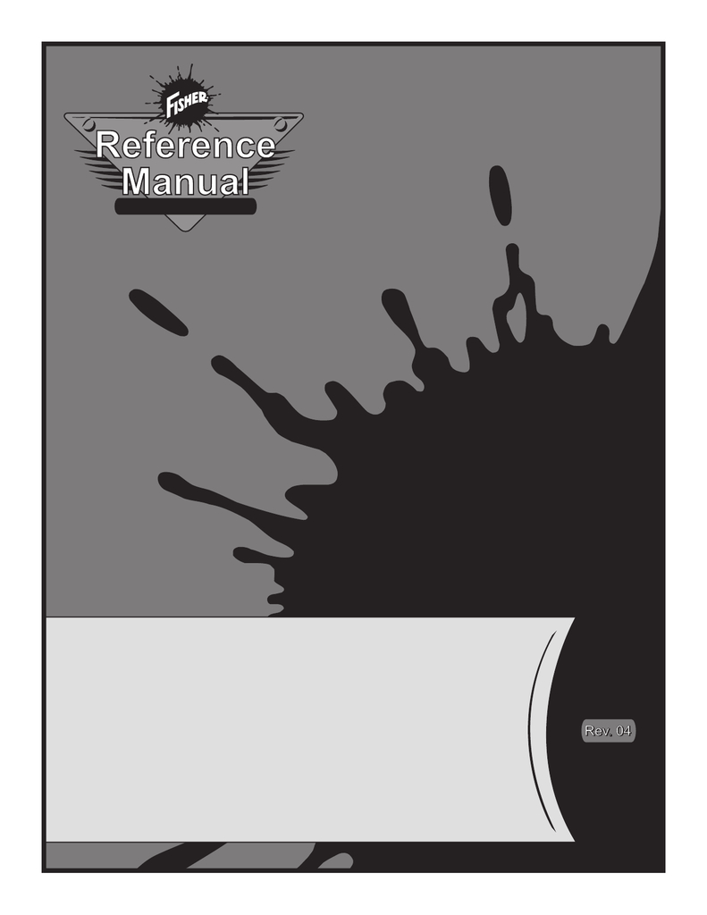fisher reference manual rev 04