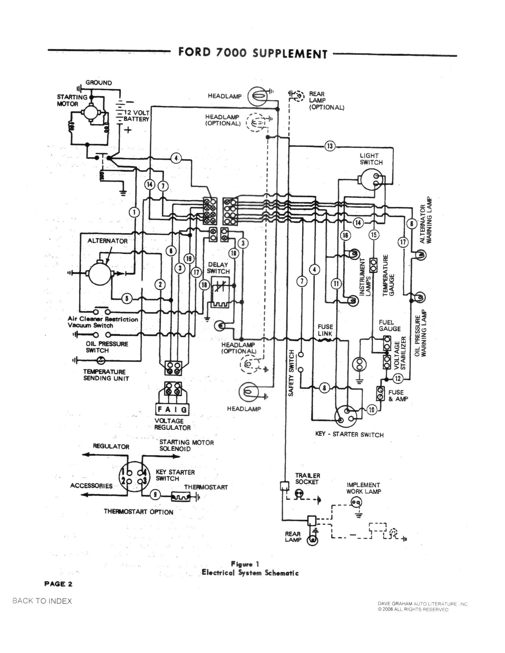 ford 7000 alternator voltage regulator wiring motorola diagram alternator 8al2056k