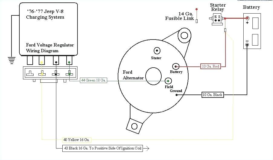 Ford Alternator Wiring Diagram External Regulator 1977 ford Generator Wiring Diagrams Wiring Diagrams