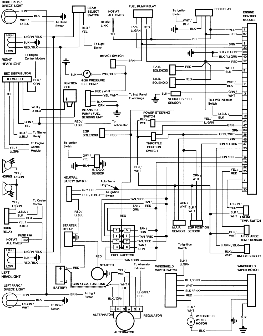 wiring diagram for lights in a 1986 ford f150 1986 f150 351w 1986 ford bronco wiring diagram 1986 ford wiring diagram