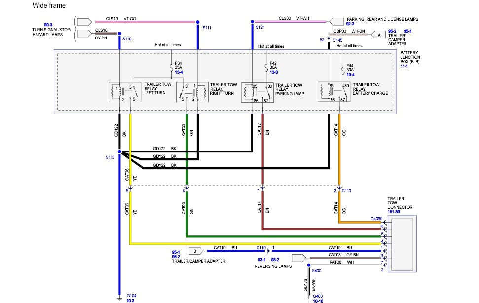 ford f350 trailer wiring harness wiring diagram log 97 ford f250 trailer wiring diagram 1997 ford f350 trailer wiring diagram