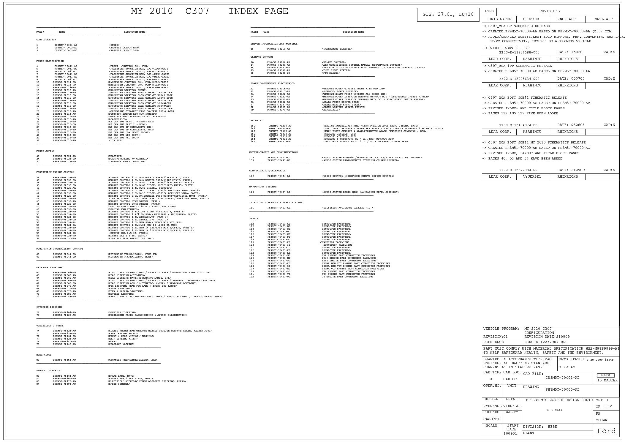 Ford Focus 2005 Wiring Diagram ford Focus Mk2 2 5 Ph8m5t Full Wiring Diagram Service Manual
