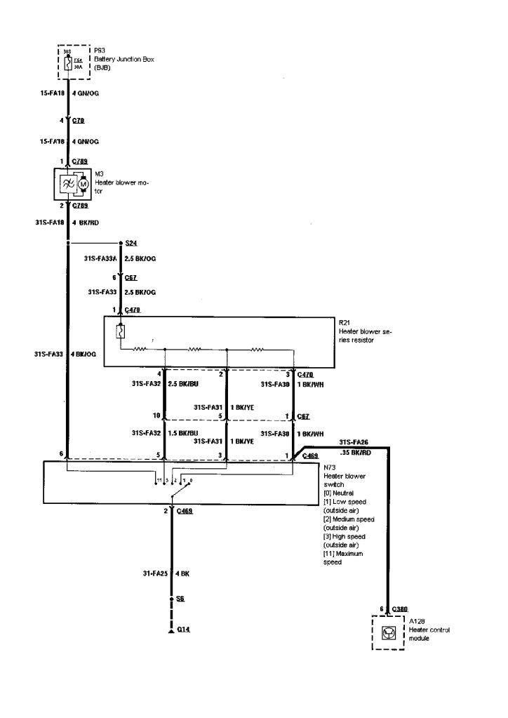 200 Focus Heater Diagram. 2003 ford focus heater blower diagram wiring  diagram. my ac and heater blower on my 2000 ford focus se not working. my  blower motor on my 2000 ford2002-acura-tl-radio.info
