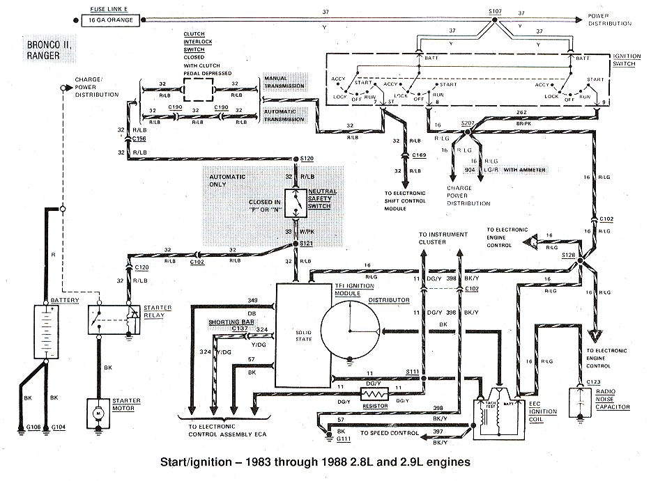 1983 1988 ford ranger ignition diagrams 1