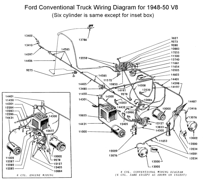 wiring diagram for 1948 50 truck