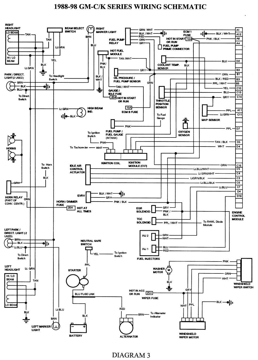 Free 1993 Chevy Silverado Wiring Diagram Repair Guides Wiring Diagrams Wiring Diagrams Autozone Com