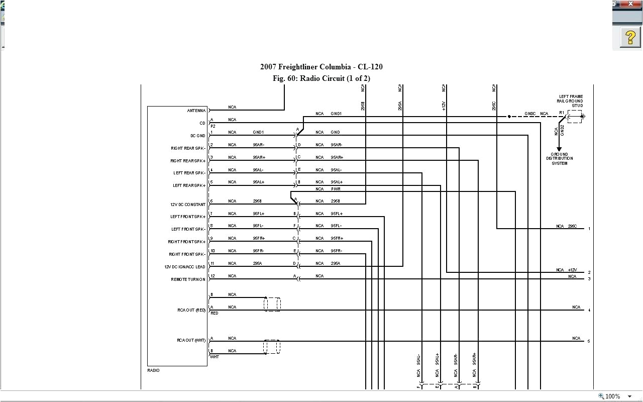 Freightliner Cascadia Wiring Diagrams Freightliner Radio Wiring Wiring Diagram Paper