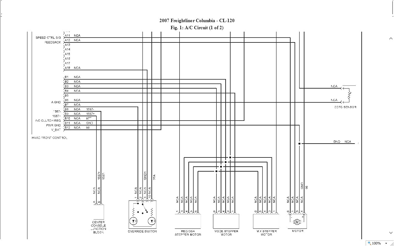 Freightliner M2 Blower Motor Wiring Diagram Freightliner Dash Wiring Diagram Wiring Diagram Article Review