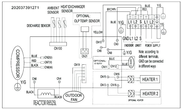 fujitsu air conditioning wiring diagram mini split installation pioneer heat pump wiring diagram