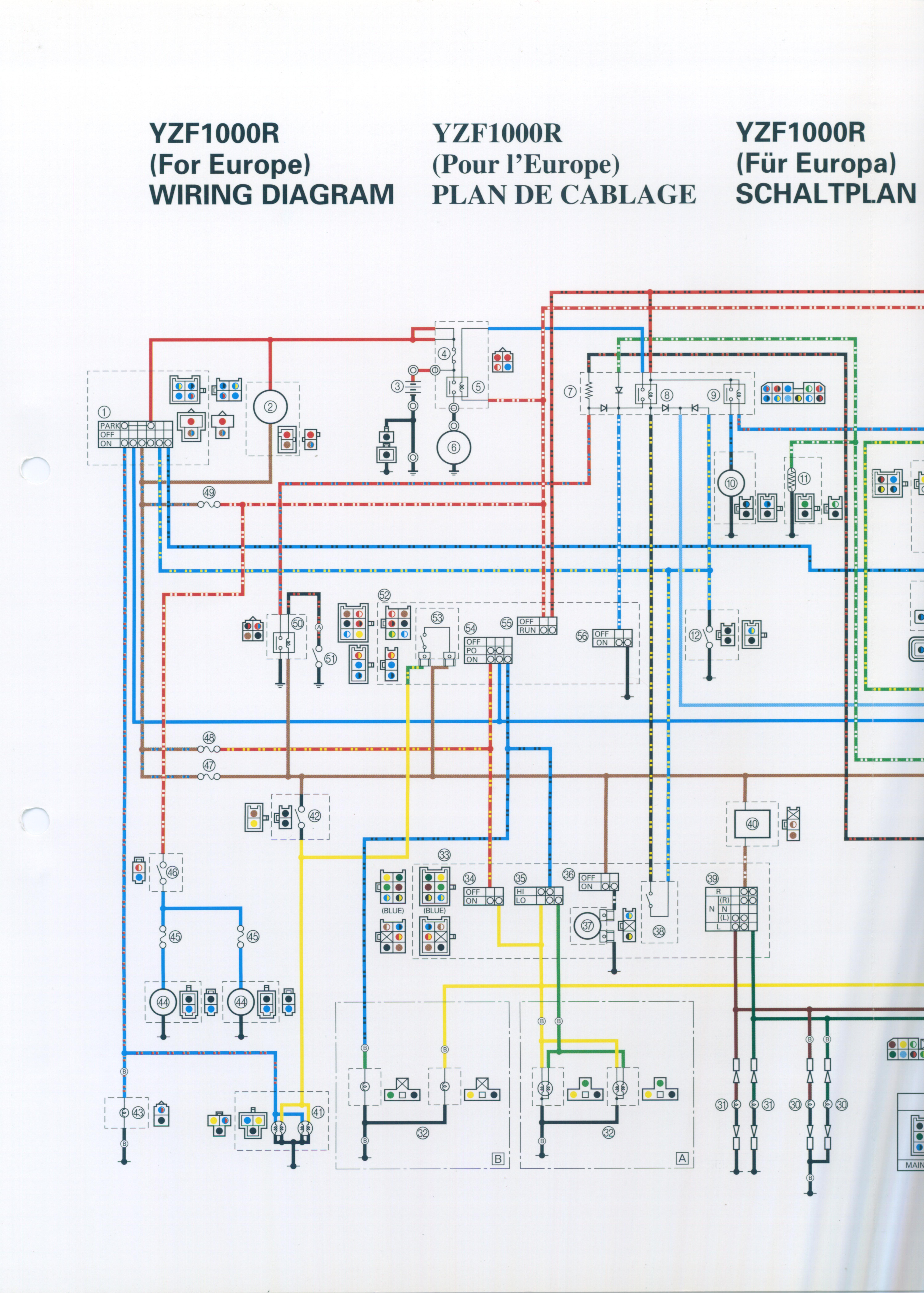 yamaha yzf 1000 wiring diagram wiring diagram insider yamaha yzf 1000 wiring diagram