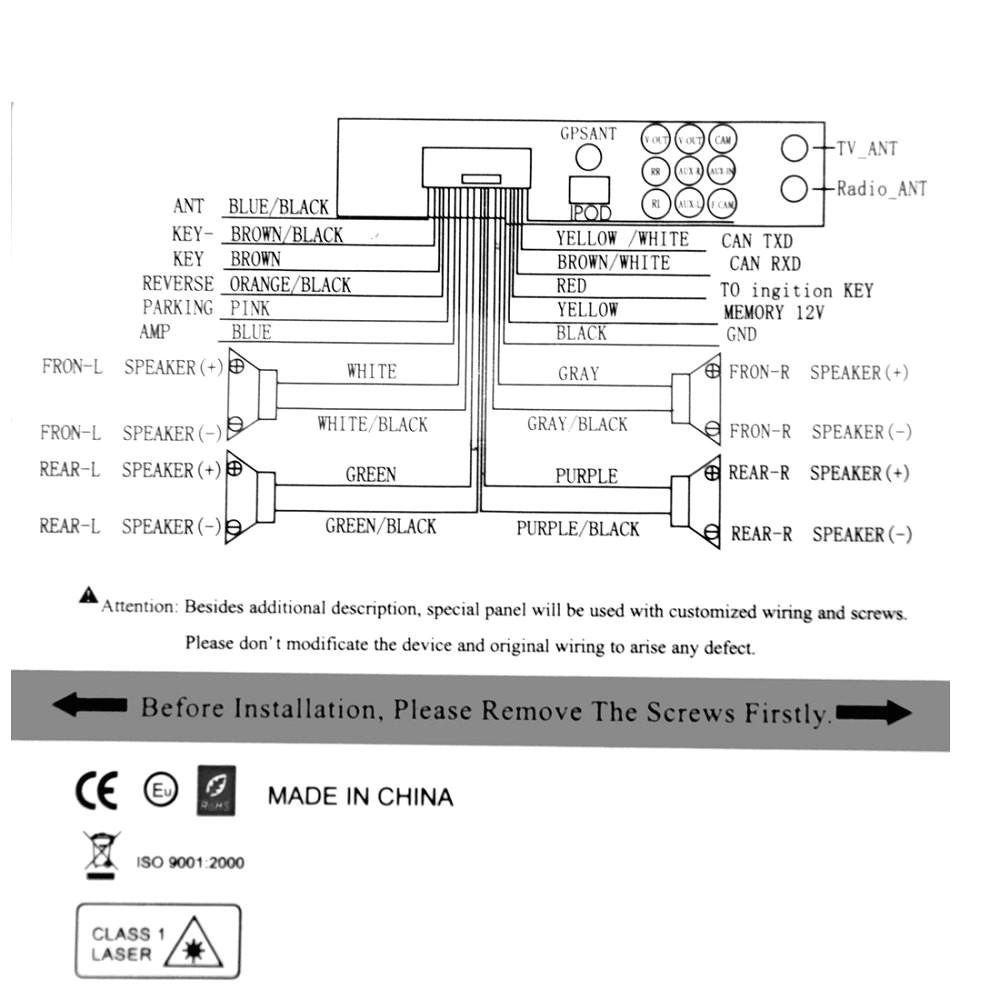 car in dash navigation wiring diagram wiring library2 din 6 2 car auto radio dvd player