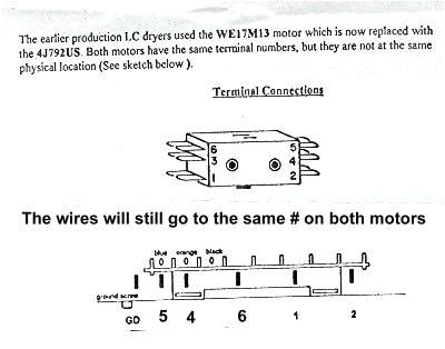 ge motor wiring diagram ge dryer motor replacement appliance aidge motor terminal connections
