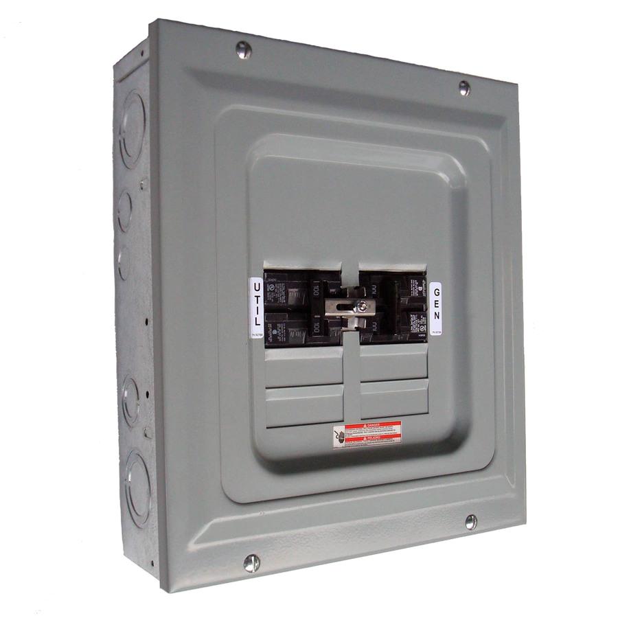 generac 6334 100 amp generator indoor manual transfer panel single load