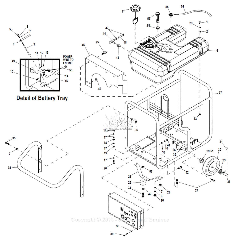 0057350 gp17500e handle frame wheel a print diagram