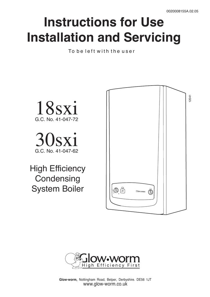 18 30sxi range installation service manual boilers glow worm