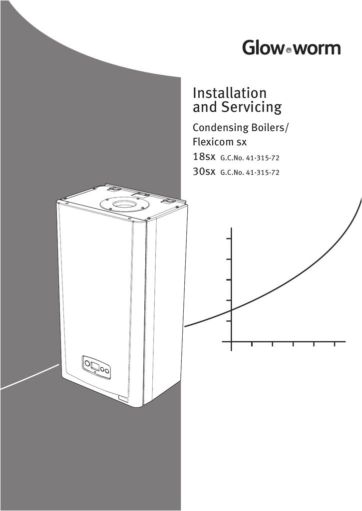 flexicom sx installation servicing manual boilers glow worm