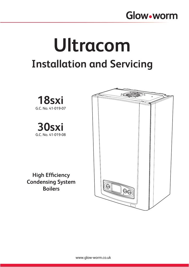 Glow Worm Boiler Wiring Diagram Ultracom Sxi Installation Service Manual Boilers Glow Worm